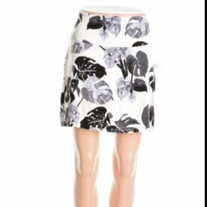 Kensie Foggy Combo White Jersey Floral Skirt L
